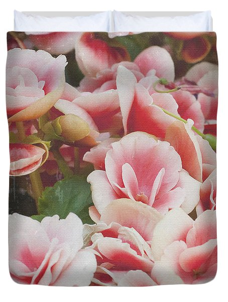 Blooming Roses Duvet Cover by Ivy Ho