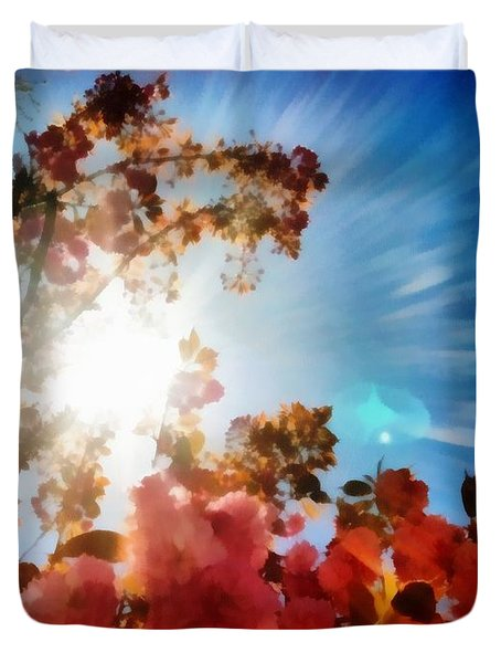 Blooming Sunlight Duvet Cover
