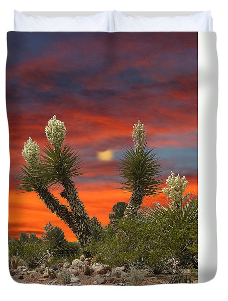 Full Blooming Yucca Duvet Cover by Jack Pumphrey