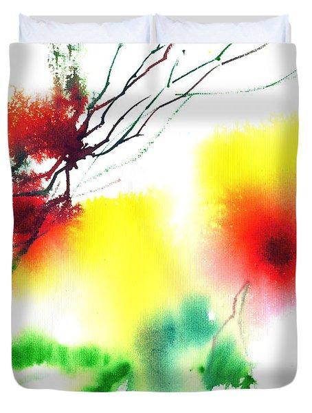 Blooms 3 Duvet Cover by Anil Nene