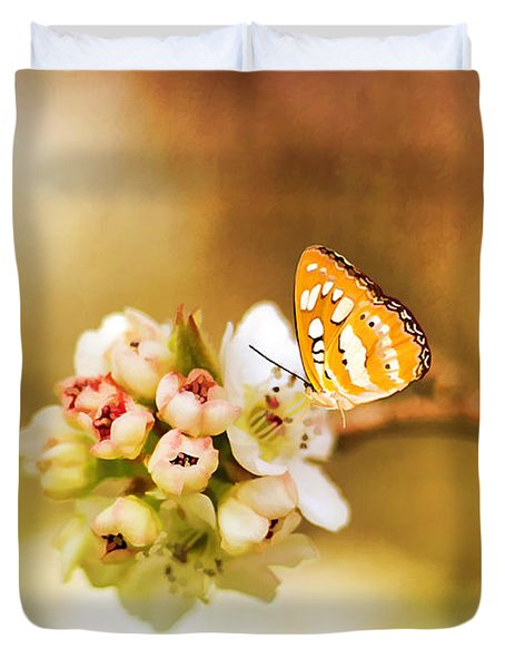 Blooms And Butterflies Duvet Cover by Darren Fisher