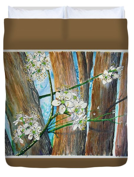 Blooms Of The Cleaveland Pear Duvet Cover