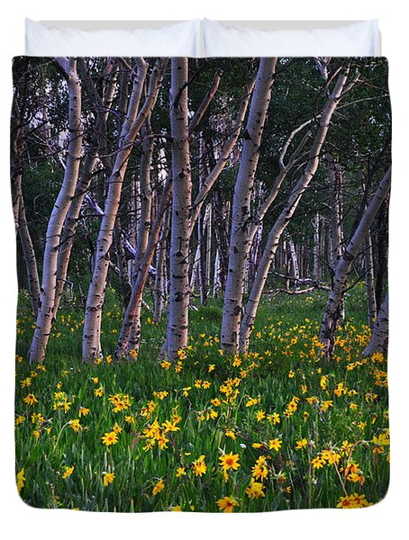 Bloooming Aspens Duvet Cover