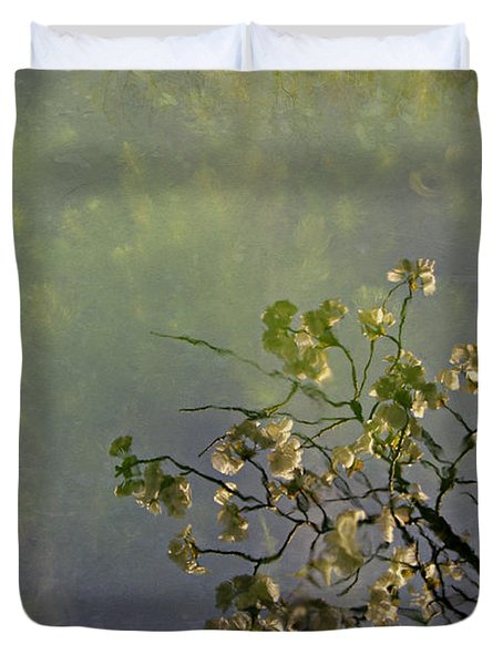 Duvet Cover featuring the photograph Blossom Reflection by Marilyn Wilson