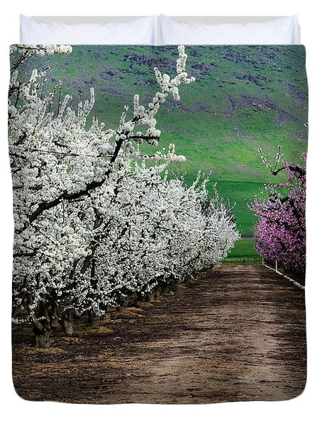 Blossom Standoff Duvet Cover by Terry Garvin