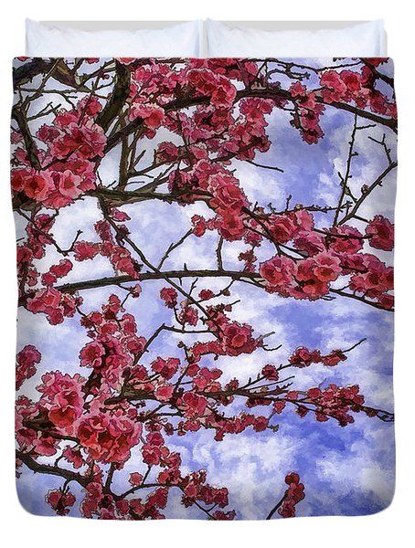 Blossoming Duvet Cover by Nancy Marie Ricketts