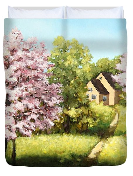 Blossoming Orchard Duvet Cover
