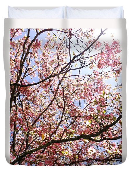 Blossoming Pink Duvet Cover by Robyn King