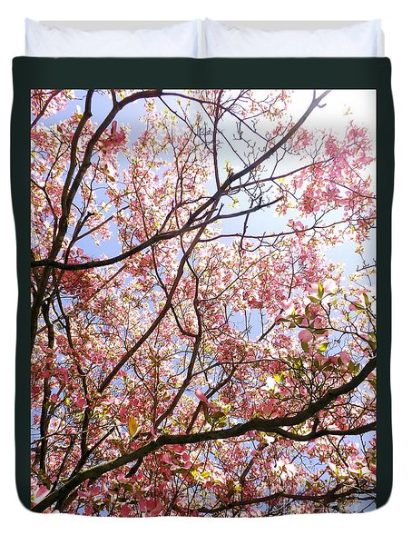 Blossoming Pink Duvet Cover