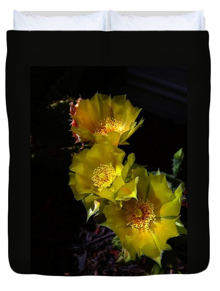 Duvet Cover featuring the photograph Blossoms At Dusk by Nick Kloepping