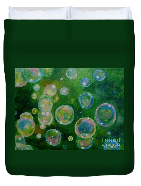 Blowing Bubbles Duvet Cover
