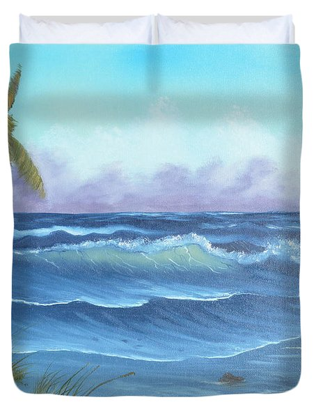 Duvet Cover featuring the painting Blowing In The Wind by Mary Scott