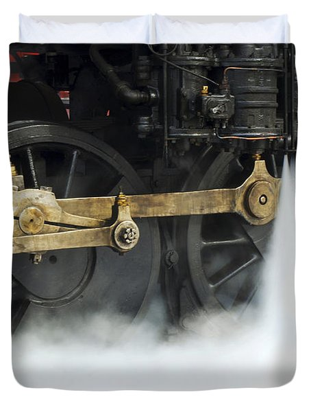 Blowing Of Steam Duvet Cover