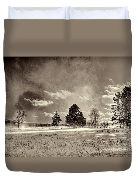 Blowing Snow Canaan Valley Duvet Cover by Dan Friend