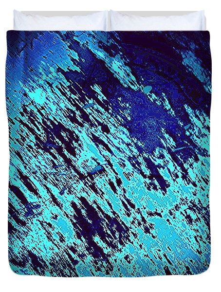 Blu Abstract 3 Duvet Cover by Jason Michael Roust