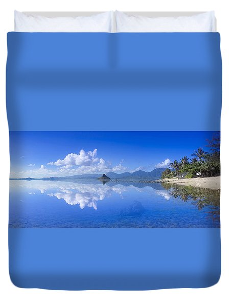 Blue Mokolii Duvet Cover