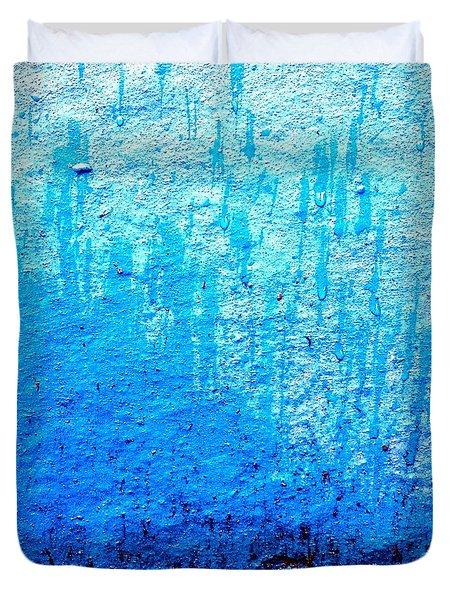 Blu Wall Duvet Cover