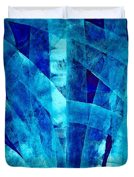 Blue Abstract Art - Paths - By Sharon Cummings Duvet Cover