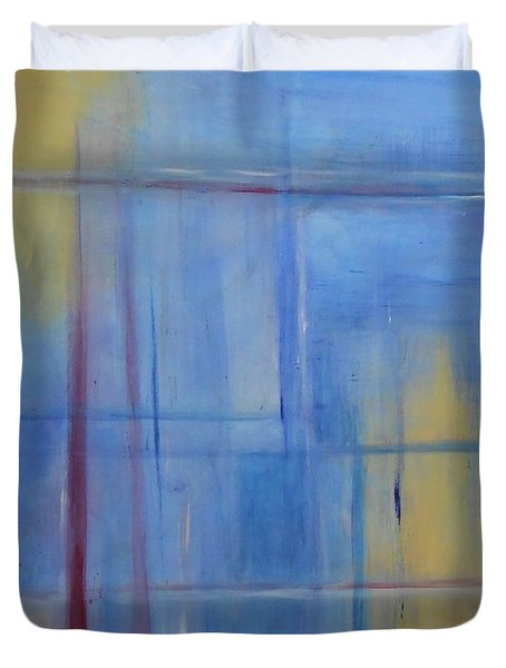 Blue Abstract Duvet Cover by Jamie Frier