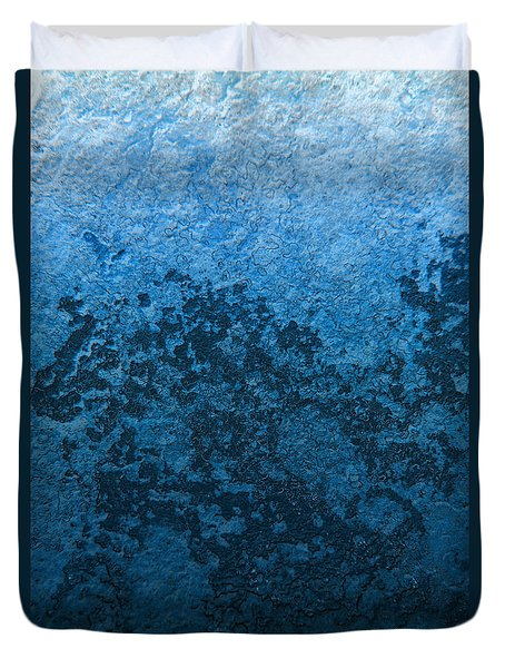 Blue Abstract No.1 Duvet Cover by Rebecca Davis