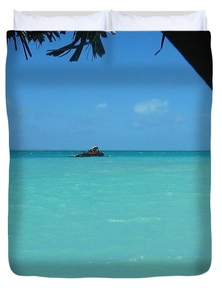 Duvet Cover featuring the photograph Blue And Green by Photographic Arts And Design Studio