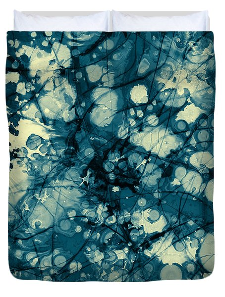 Blue And Yellow Abstraction Duvet Cover