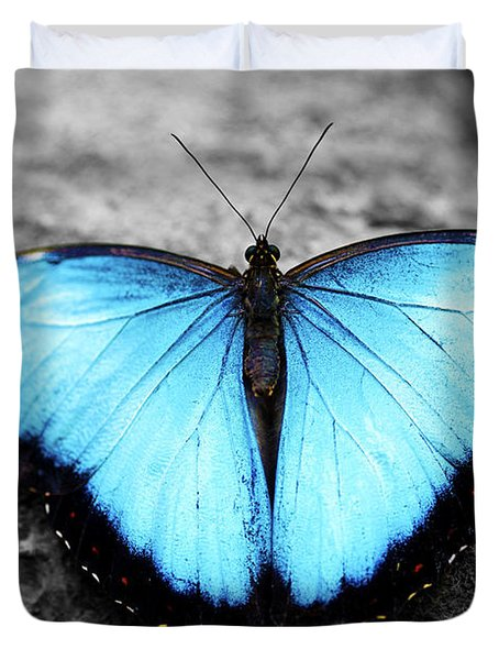 Blue Angel Butterfly 2 Duvet Cover