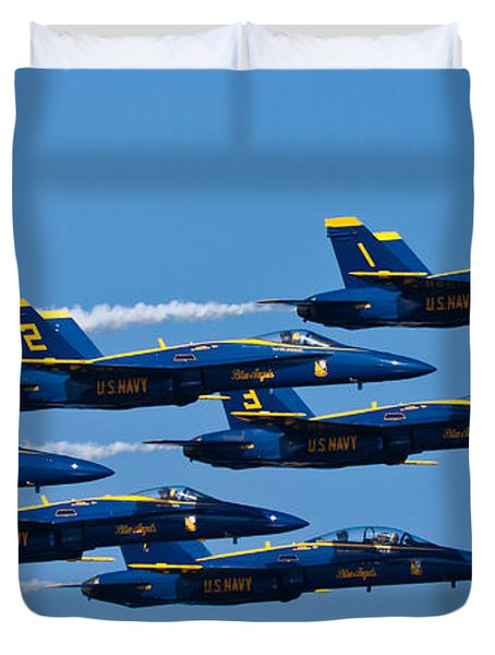Blue Angels Duvet Cover by Adam Romanowicz