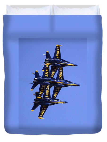 Blue Angels II Duvet Cover by Bill Gallagher