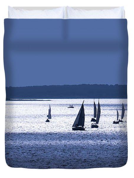Blue Armada II Duvet Cover