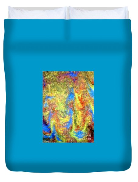 Blue Ascension Duvet Cover by Barbie Corbett-Newmin