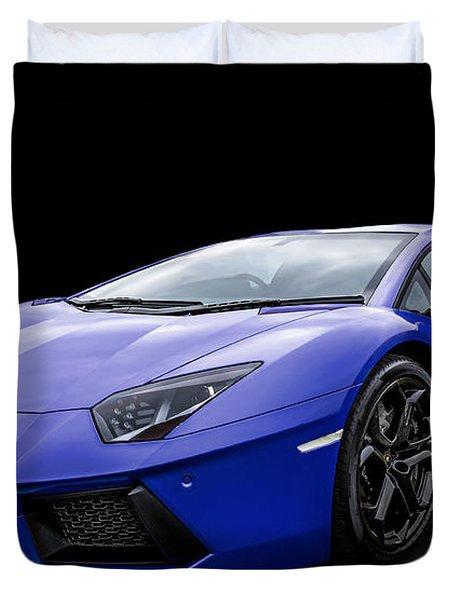 Blue Aventador Duvet Cover