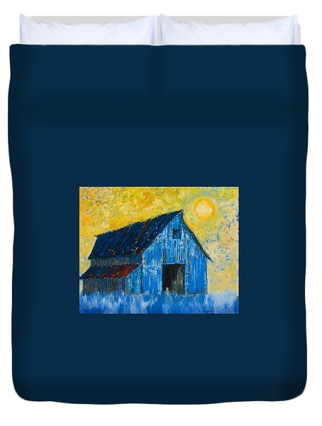 Blue Barn Number One Duvet Cover by Jerry McElroy