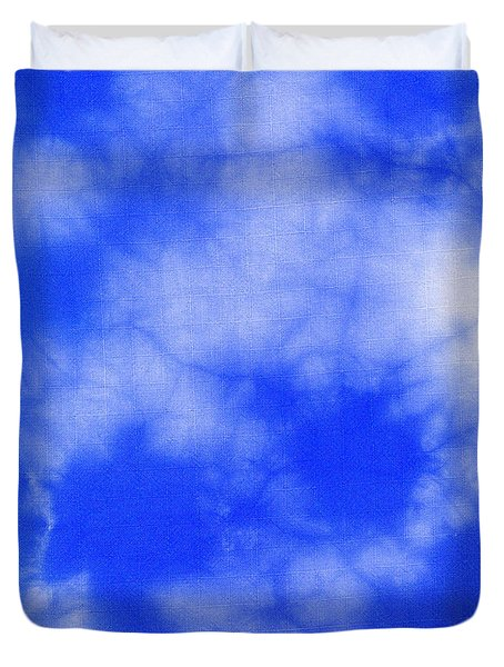 Blue Batik Pattern  Duvet Cover by Kerstin Ivarsson