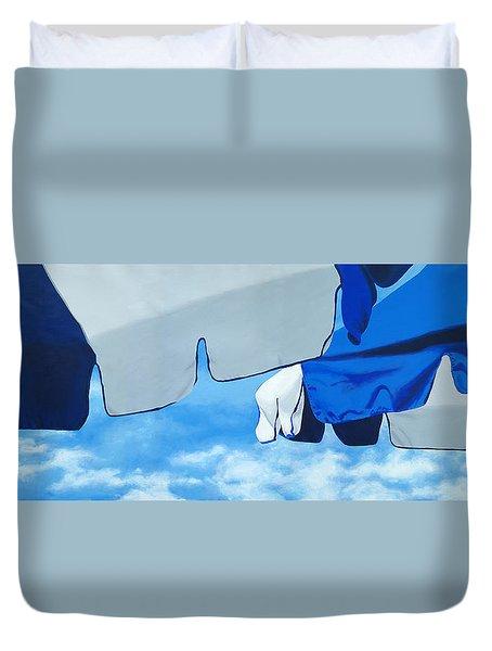 Blue Beach Umbrellas 2 Duvet Cover