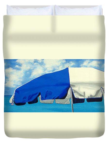Blue Beach Umbrellas 1 Duvet Cover