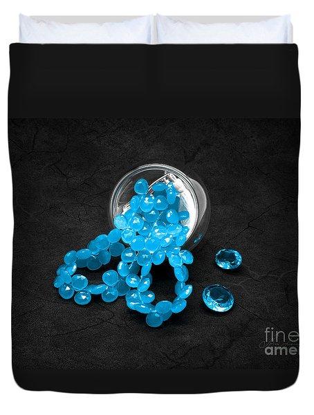 Blue Beads And Topazes Duvet Cover