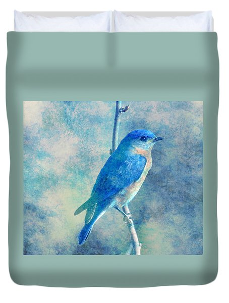 Blue Bird Blue Sky Duvet Cover