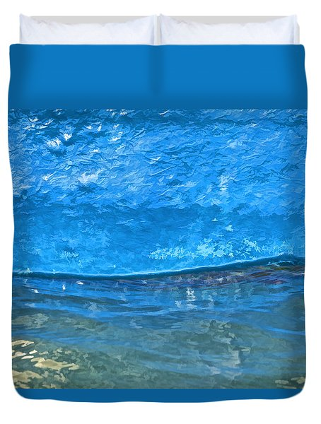 Blue Boat Abstract Duvet Cover