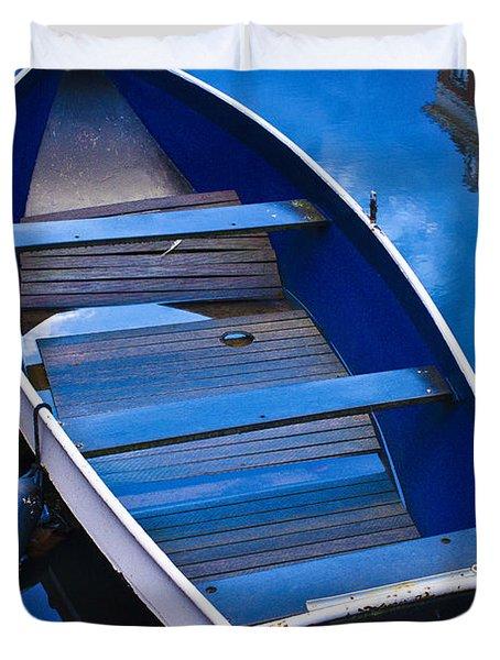 Blue Boat Duvet Cover