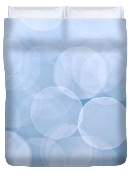 Blue Bokeh Background Duvet Cover by Elena Elisseeva