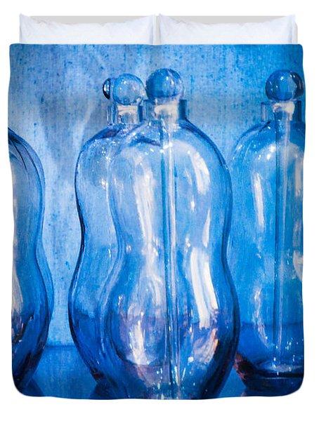 Blue Bottles Duvet Cover