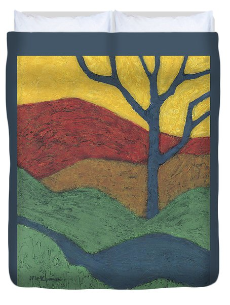Blue Branches Duvet Cover