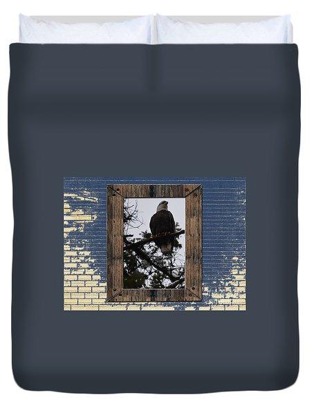 Blue Brick Duvet Cover by Greg Patzer