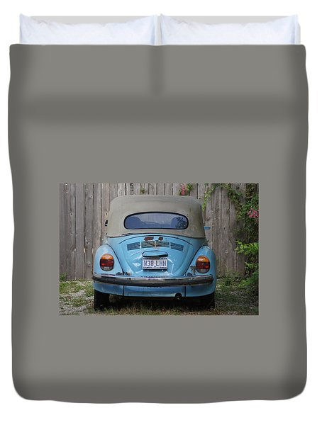 Blue Bug Duvet Cover by Debi Demetrion