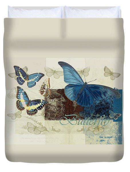 Blue Butterfly - J152164152-01 Duvet Cover