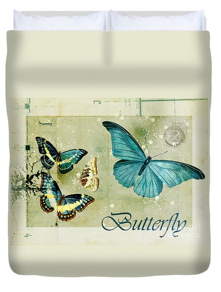 Blue Butterfly - S55c01 Duvet Cover