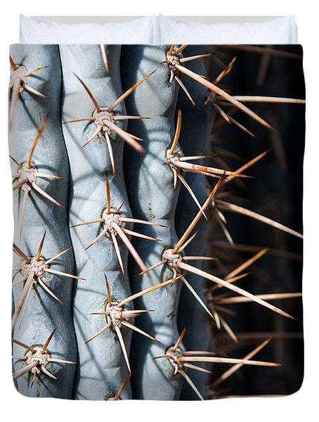 Duvet Cover featuring the photograph Blue Cactus by John Wadleigh