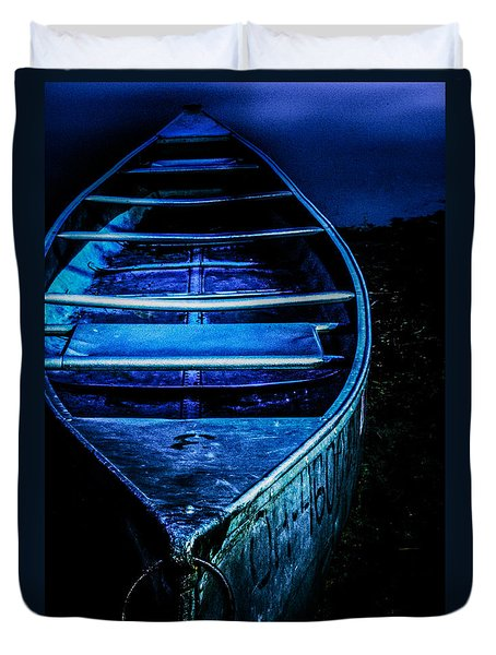 Blue Canoe Duvet Cover