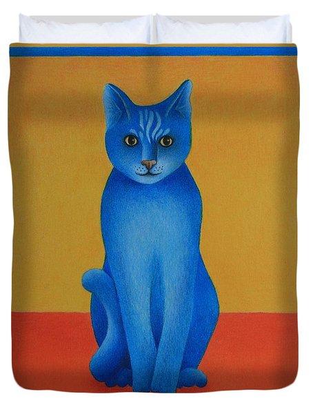 Blue Cat Duvet Cover